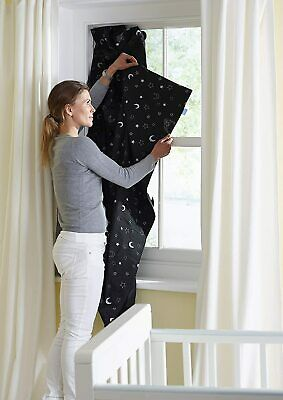 Portable Blackout Blind with Suction Cups Stars and Moons, Create Total Darkness