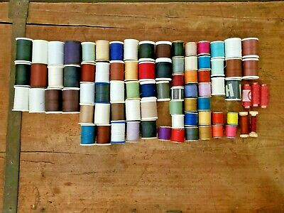 Lot of 79 Spools Sewing Machine Thread Assorted Colors Cotton-Wrapped Polyester