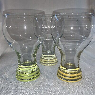 Lot of 3 Fiesta Ware Elegance Glass Goblet Rings Yellow, Sunflower & Chartreuse