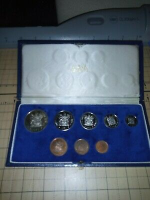1970 South Africa Proof Coin Deluxe Set With Silver 1 Rand Toned