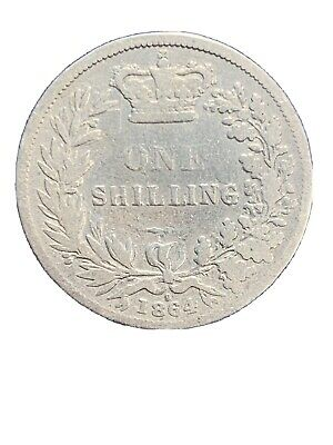 1864 Great Britain Shilling KM# 734.1 - Young Victoria Head - Die #9 *1748