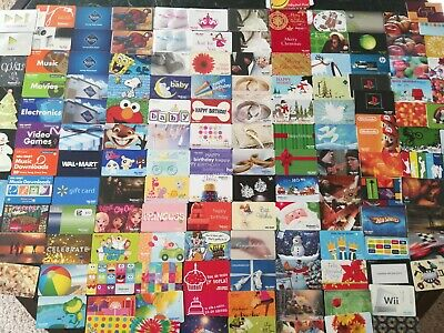 Collection of 160+ Walmart Gift Cards all different