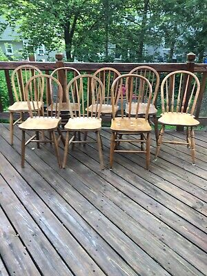 8 Antique Windsor Style Hoop Back Side Chairs Pick UP ONLY