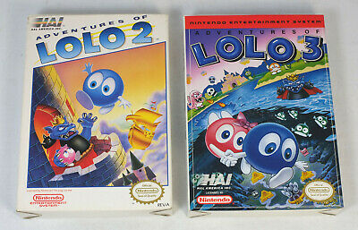 Empty Boxes for Nintendo NES Adventures of Lolo 2, 3 Games
