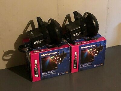 (2) Eliminator Lighting E-109 DJ Mushroom Effect Light (Used, Good Condition)