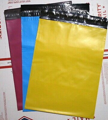 100 Blue Hot Pink Yellow 10x13 Poly Mailers Shipping Envelope  Shipping Bags