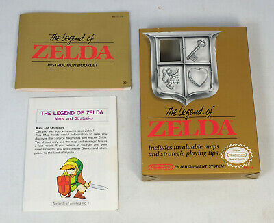 Empty Box, Instructions, and Map for Nintendo NES Legend of Zelda Game