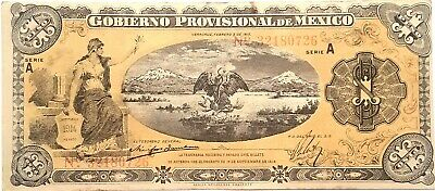 Mexico 1 Peso 1914 World Paper Money