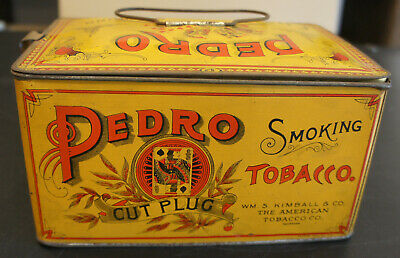 Pedro 54 Cut Plug Lunchbox Tin Very Good Condition