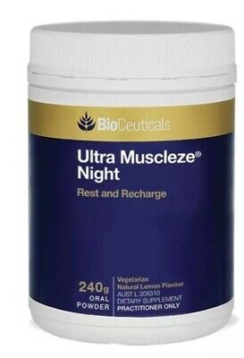 Bioceuticals Ultra Muscleze Night 240g FREE POSTAGE