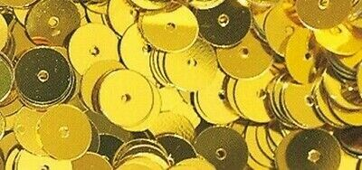 Sequins Gold Yellow Ø 6 MM Smooth Box 6 G Washable - Rayher