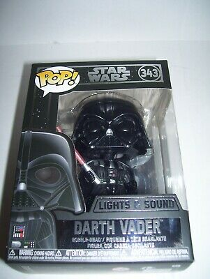 Star Wars Darth Vader Electronic Bobblehead Funko Pop ! #343 Mint In Box In Hand