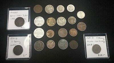 Lot of German Coins, 1850's - 1930's, including key dates
