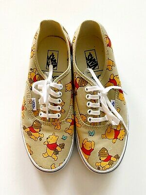 Vans X Disney Winnie-The-Pooh Collaboration Rare Men's Size Men 7 Womens 8.5