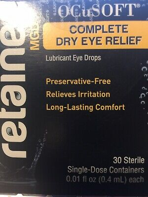 OcuSoft Retaine Mgd Ophthalmic Emulsion 30 Single Dose, Complete Dry Eye Relief