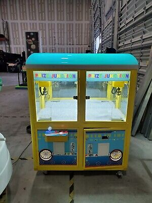 Prize Junction Claw Machine, kids double crane claw machine, 2 units in one, LED
