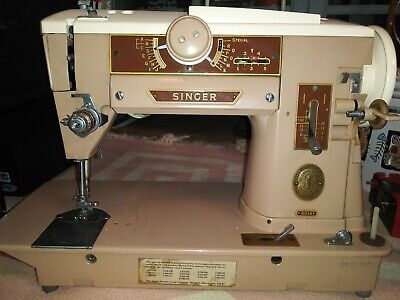 Singer 401A Sewing Machine Excellent Working Vintage Heavy Duty Slant O Matic
