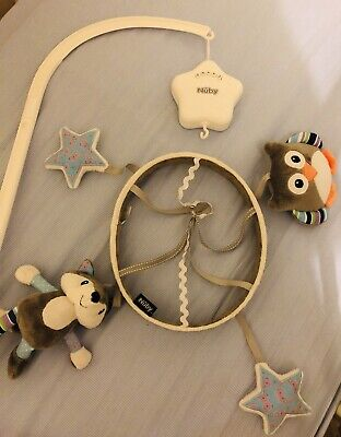 Nuby Little Fox Woodland Musical Cot Mobile
