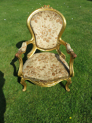 Vintage French Louis Style Vintage Bedroom  Chair