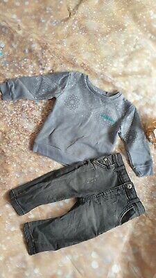 Baby Boys River Island OutFit Size 6-9 Months. Jeans ,jumper