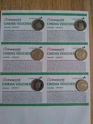 6x Cineworld Cinema Tickets Club Lloyds Valid For 12 Months (Expiry 23/05/2021)