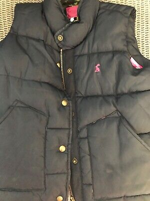 Joules girls gillet in navy blue aged 7 years