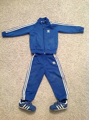 Adidas Original Tracksuit (2-3 years) with matching Adidas trainers (size 6)