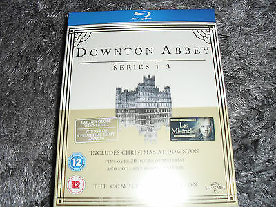 downton abbey series 1-3 blue ray (new sealed)the complete collection.