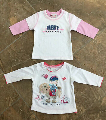 Baby Girls Long Sleeved Next Tops X2 Age 3-6 Months