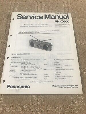 Panasonic RN-Z600 service manual For Radio Microcassette