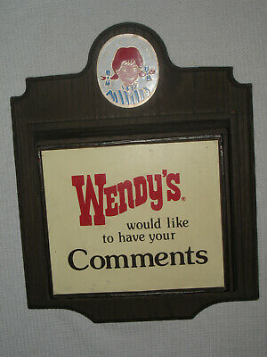 RARE Vintage Wendy's Restaurant Comments Suggestions Box
