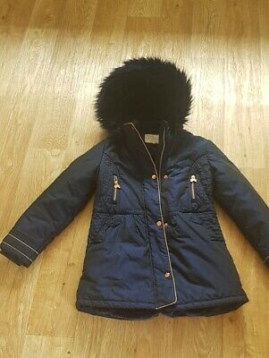 Ted Baker girls Parker Style Navy Blue Winter Coat Age 11yrs