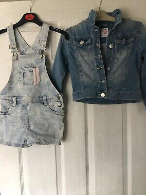 Girls Dungarees And Demin Jacket 5-6
