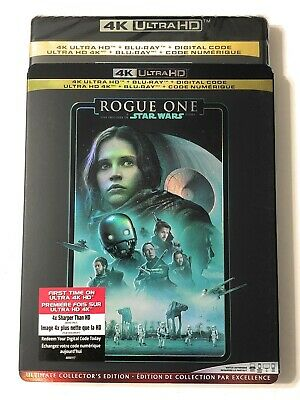 Star Wars ROUGE ONE  4K ULTRA HD + BLU-RAY + DIGITAL + SLIPCOVER New Sealed