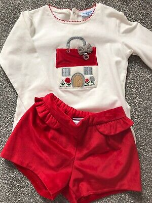 Red Velvet Shorts And Top Set - MAYORAL - 36months