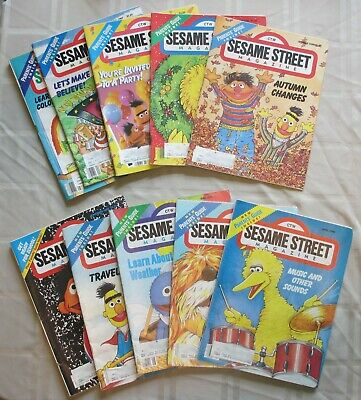 Lot of 10 1980s Sesame Street Magazines