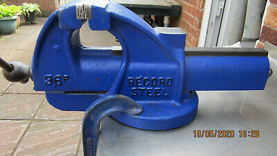 """Record No 36 HEAVY DUTY BENCH VICE 6"""" ENGINEERS / FITTERS"""