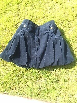 Indigo Collection Girls Navy Cordroy Skirt Aged 10 Years