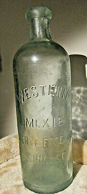 WESTERN MOXIE NERVE FOOD CO. CHICAGO  donut top soda bottle WOW! RARE!