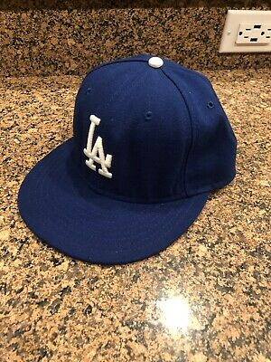 New Era 59Fifty Los Angeles LA Dodgers Game Fitted Hat MLB Cap 7 1/8
