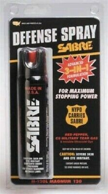 Sabre Maximum Magnum Pepper Spray 120 Self Defense Police 4 oz. Made in USA