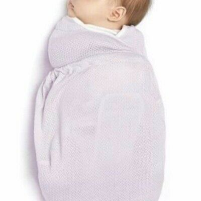 Ergo Lightweight Baby Swaddle Lilac Newborn Sleep Arm Pockets