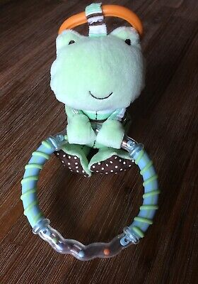 Carter's Frog plush teething toy