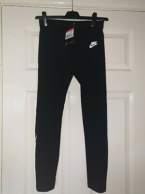 Girls Black Leggings Age 12-13 Years Nike New With Tag