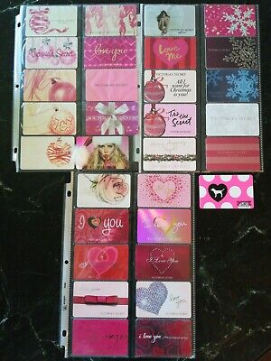 Collection of 31 Victoria's secret (Heidi Klum and Adriana Lima) Gift Cards