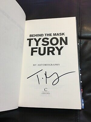 SIGNED tyson fury book, Purchased From Waterstones