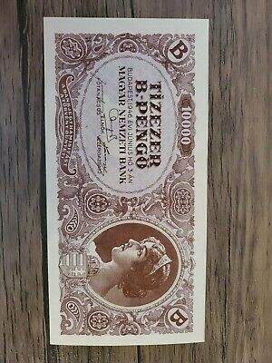 1946 10 Trillion Pengo Hungary Unc Currency Banknote Money Bank Bill Cash B