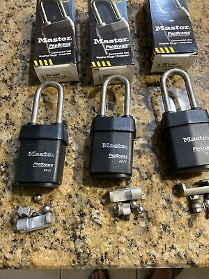 Master Pro Series Padlocks 6621lJWO Lot Of 3 Uses A Key In Knob Cyl. Not Inc.