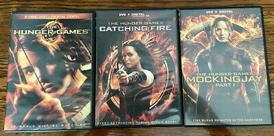 The Hunger Games 3 DVD + Digital set: Catching Fire, Mocking Jay Part 1
