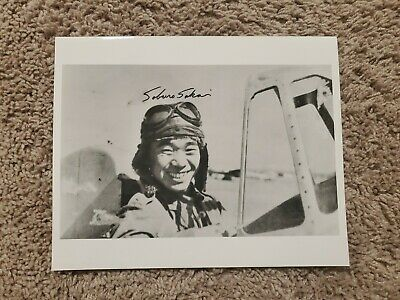 Japanese Ace Saburo Sakai Signed RARE 8x10 IN COCKPIT Photo - 64 kills